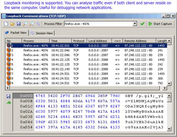 SoftPerfect Network Protocol Analyzer, Network Software Screenshot