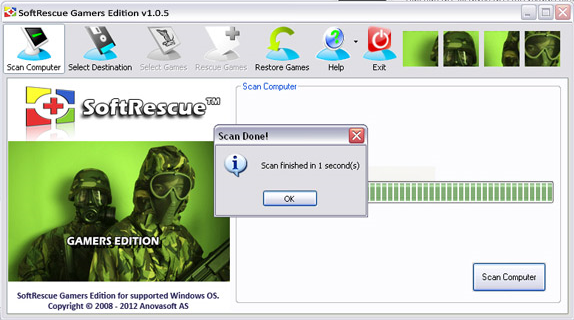 Backup and Restore Software Screenshot