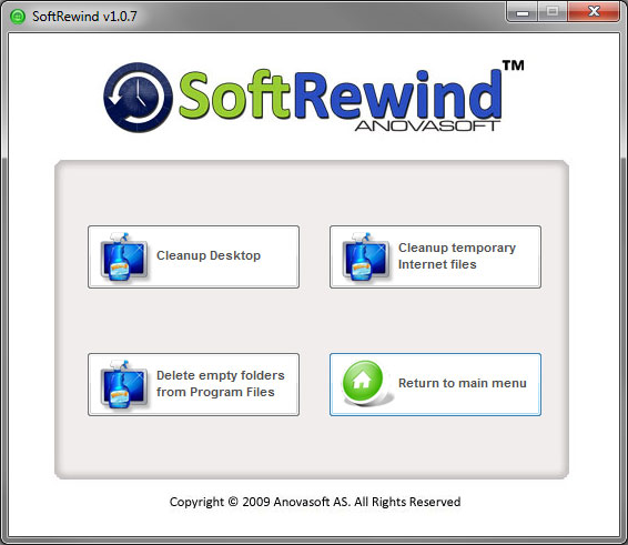 Access Restriction Software, SoftRewind Home Edition Screenshot