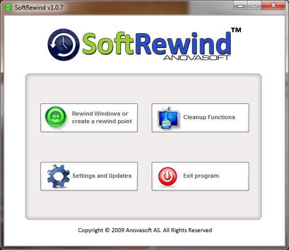 SoftRewind Home Edition Screenshot