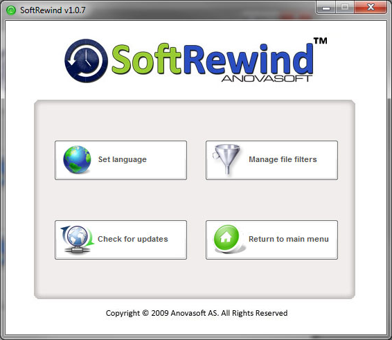 SoftRewind Home Edition, Access Restriction Software Screenshot