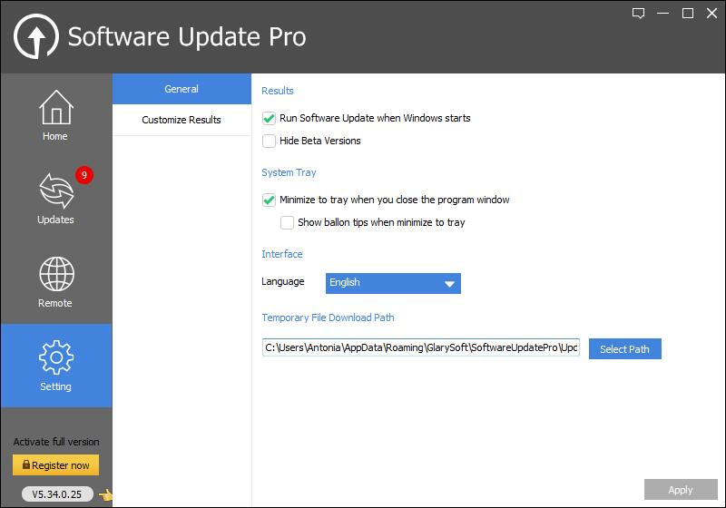 Software Update Pro, Software Utilities Screenshot