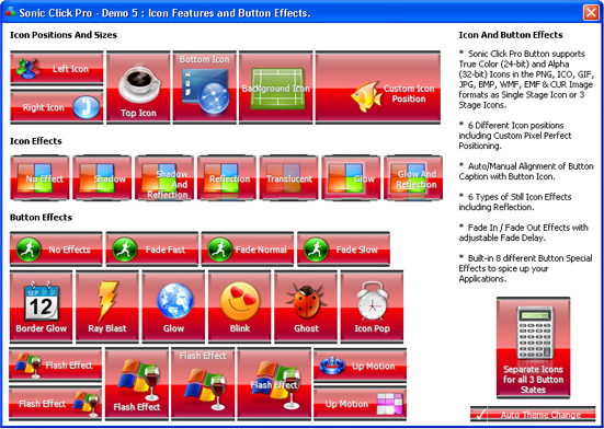 Development Software, Sonic Click Pro Button ActiveX Control Screenshot