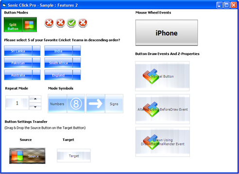 Sonic Click Pro Button ActiveX Control Screenshot 12