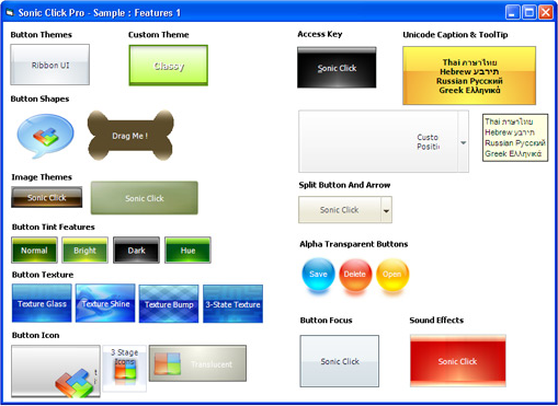Sonic Click Pro Button ActiveX Control Screenshot 11