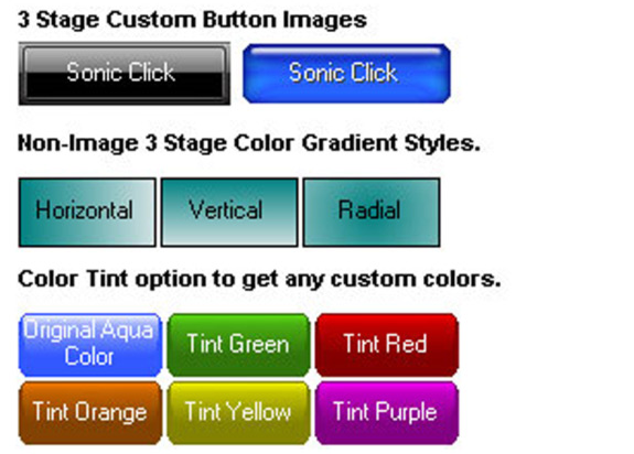 Sonic Click Ultra Button ActiveX Control, Development Tools Software Screenshot