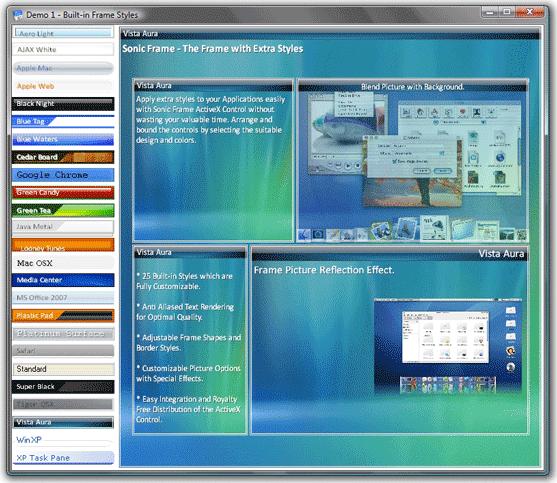 Sonic Frame ActiveX Control, Development Software Screenshot