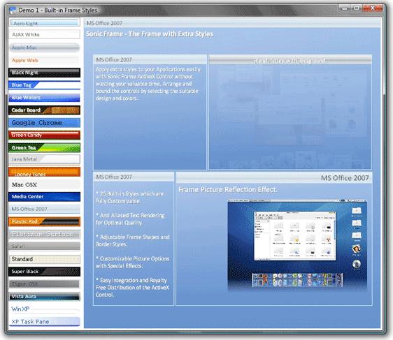 Development Tools Software, Sonic Frame ActiveX Control Screenshot
