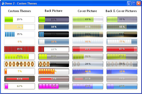 Sonic Progress Bar ActiveX Control Screenshot