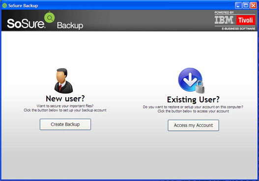 SoSure - Online Backup Screenshot