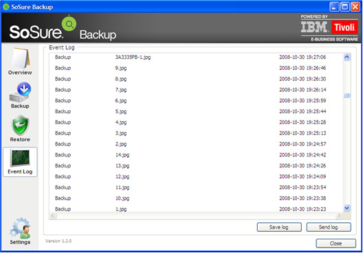 SoSure - Online Backup, Security Software, Backup Cloud Software Screenshot