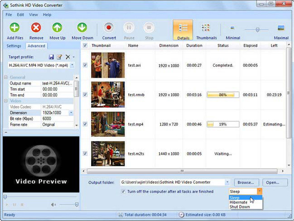 Sothink HD Video Converter Screenshot
