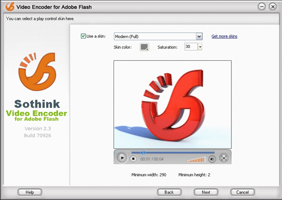 Sothink Video Encoder for Adobe Flash, Video Software Screenshot