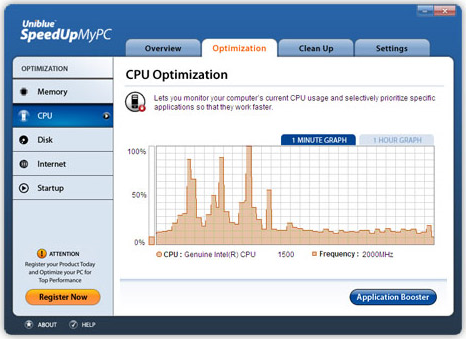 PC Optimization Software Screenshot