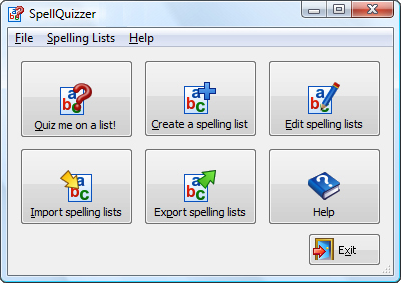 SpellQuizzer Spelling Software Screenshot
