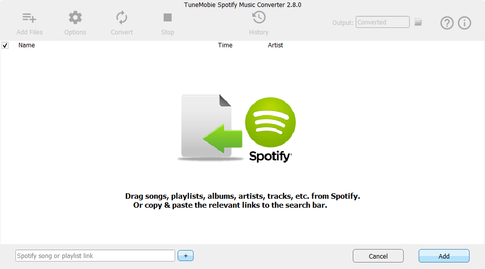 Spotify Music Converter, Audio Conversion Software Screenshot