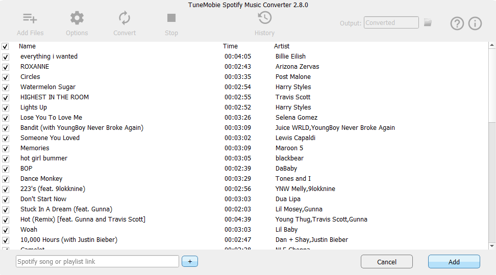Spotify Music Converter, Audio Software Screenshot