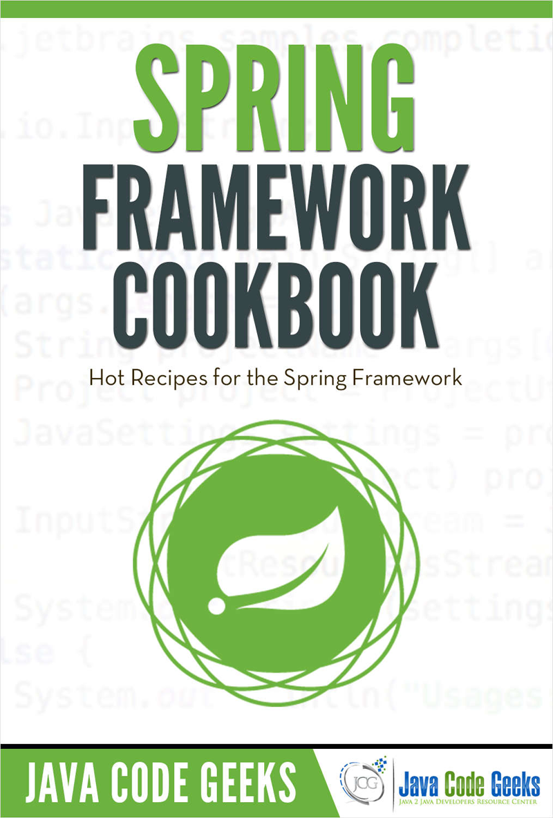 Spring Framework Cookbook Screenshot