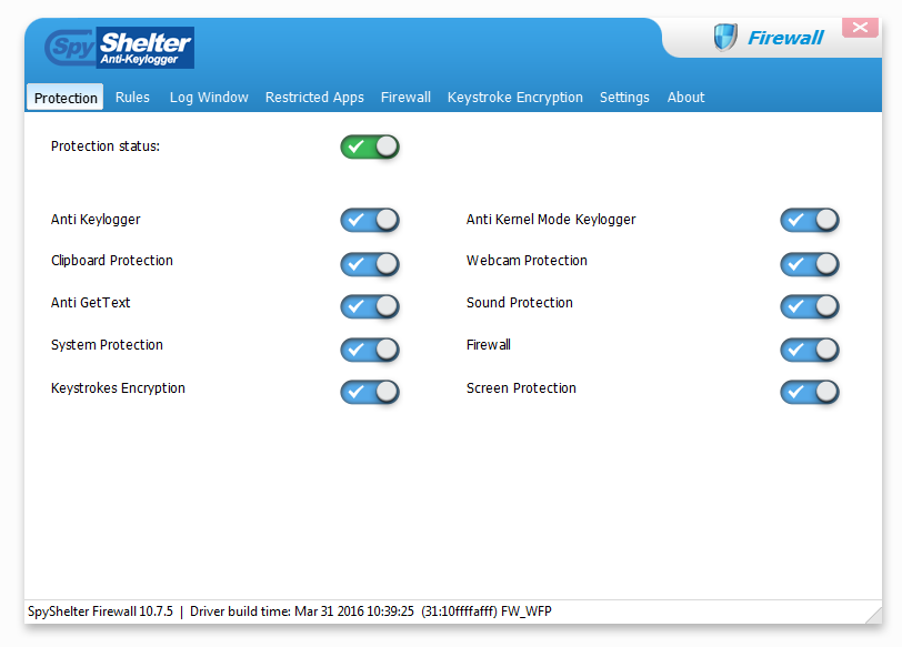 SpyShelter Firewall Screenshot