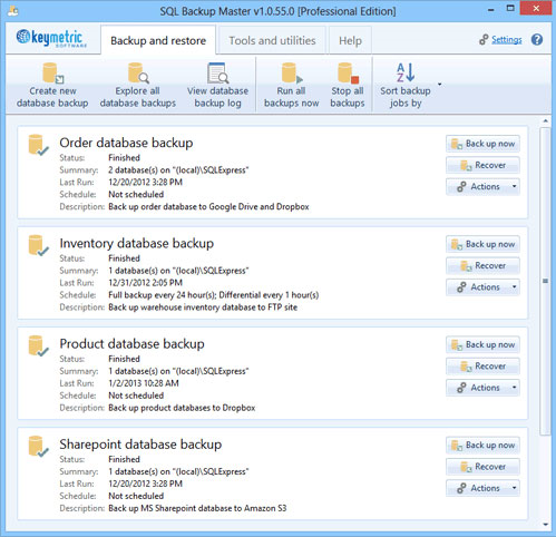SQL Backup Master (PRO Edition) Screenshot