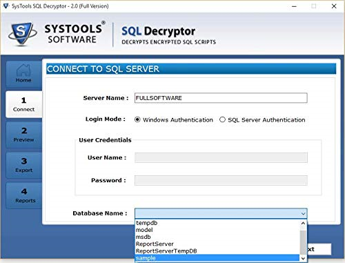 SQL Decryptor Screenshot