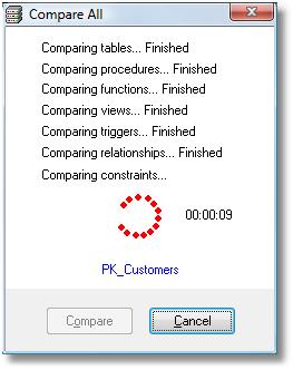 Database Management Software, SQL Server Comparison Tool Screenshot