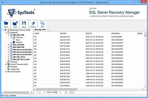 SQL Server Recovery Manager Screenshot