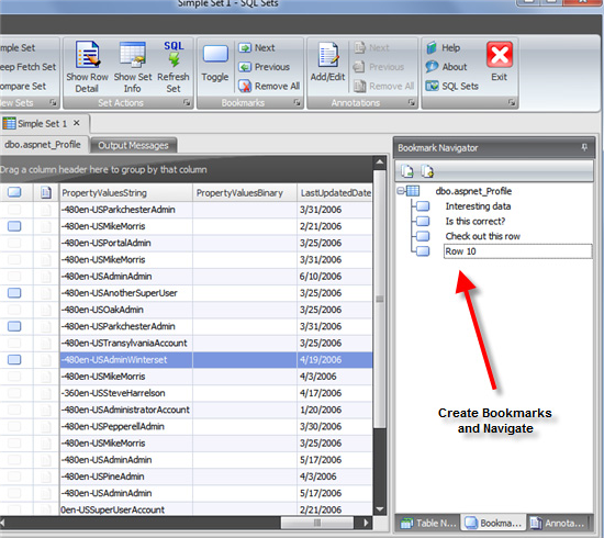 Database Software Screenshot