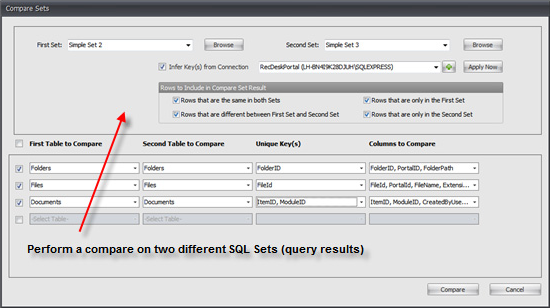 Development Software, SQL Sets Screenshot