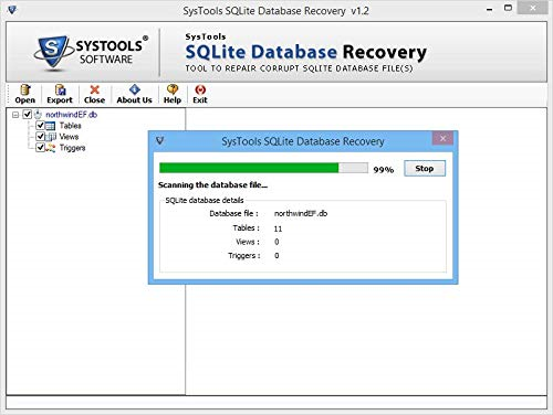 SQLite database Recovery Screenshot