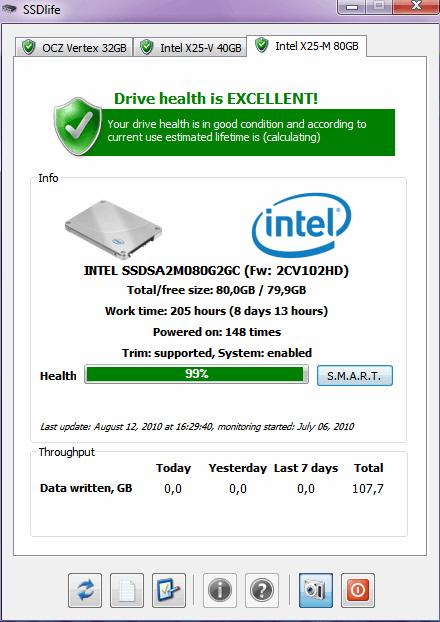 SSDLife, Hard Drive Software Screenshot