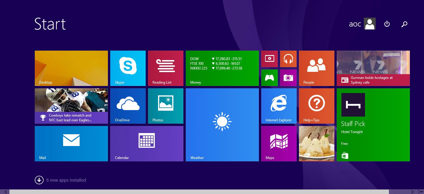 Desktop Enhancements Software, Start Menu 8 Screenshot