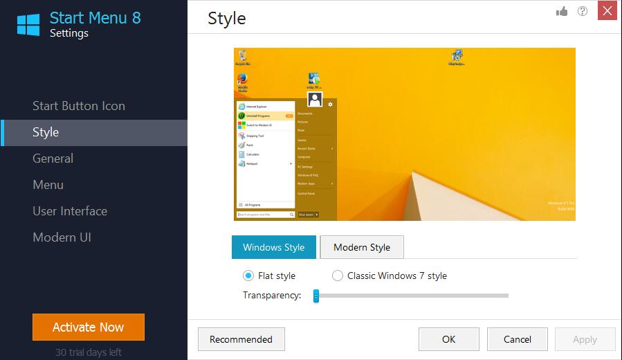 Start Menu 8 Screenshot 9