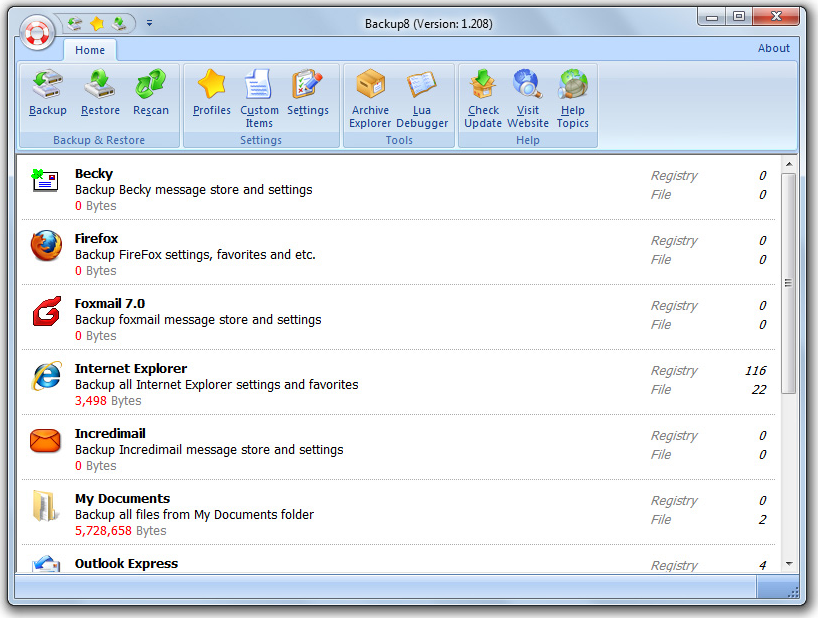 Static Backup8 Screenshot