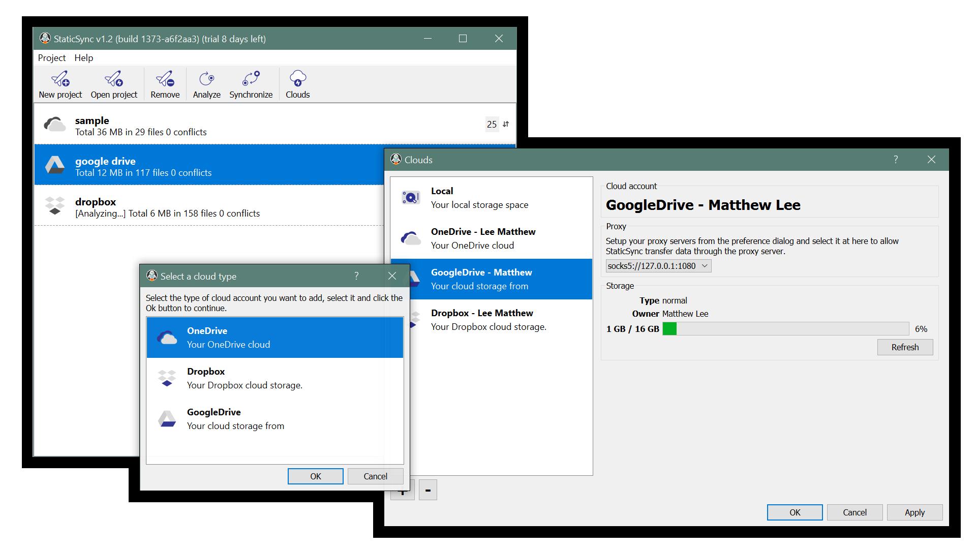 StaticSync, Security Software Screenshot