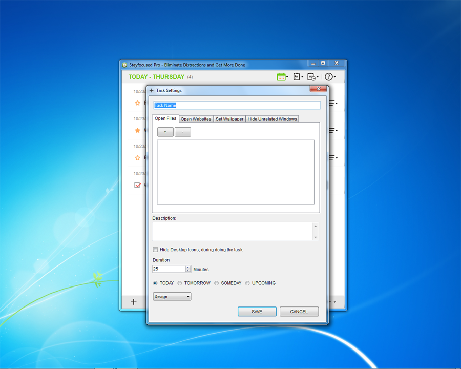 Productivity Software, Stayfocused Pro 3 User Screenshot