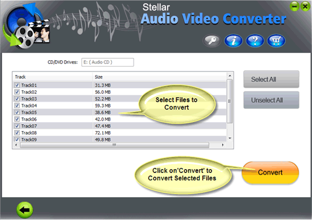 Audio Software, Stellar Audio Video Converter Screenshot