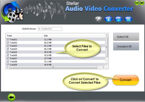 Audio Software, Stellar Audio Video Converter Screenshot