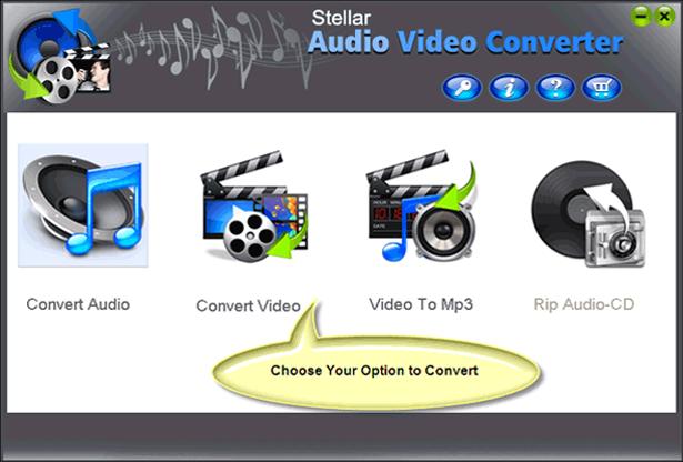 Stellar Audio Video Converter Screenshot