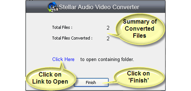 Audio Conversion Software, Stellar Audio Video Converter Screenshot