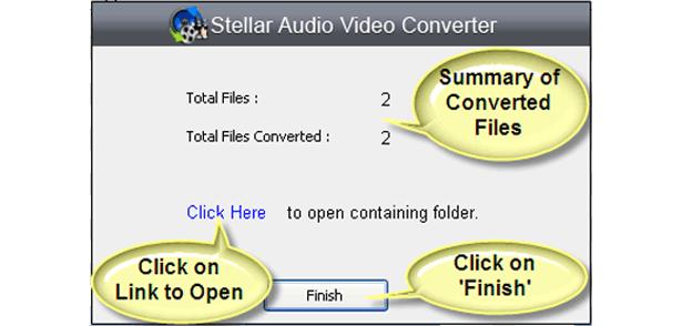 Audio Conversion Software, Stellar Audio Video Converter Screenshot