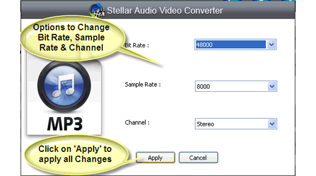 Stellar Audio Video Converter, Audio Software Screenshot