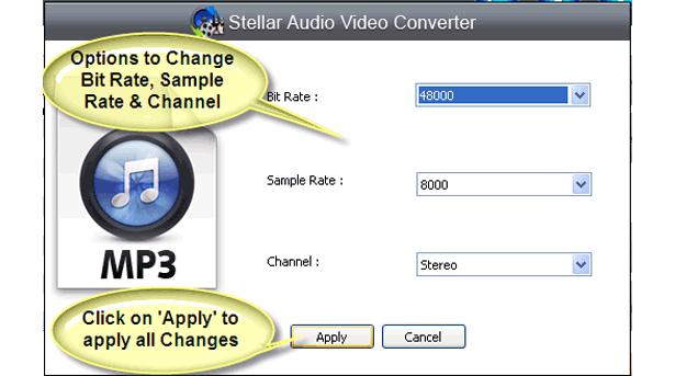 Stellar Audio Video Converter, Audio Software Screenshot