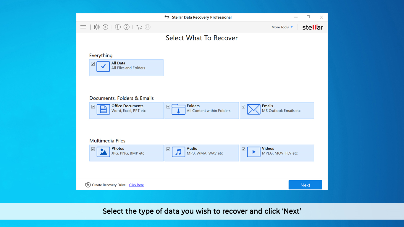 Stellar Data Recovery Professional Screenshot