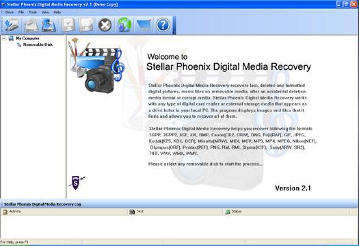 Stellar Digital Media Recovery Screenshot