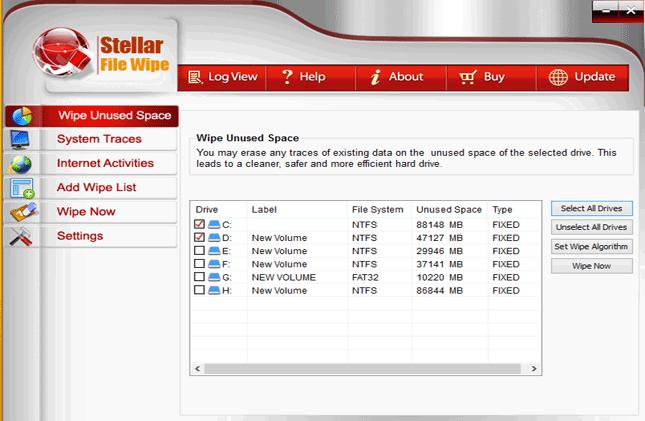 Software Utilities, Stellar File Wipe Windows Screenshot