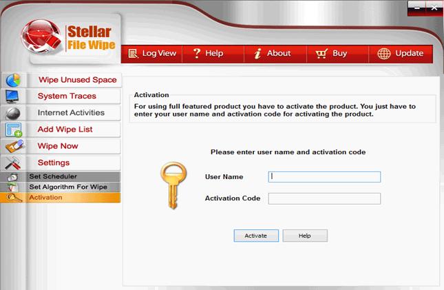 Stellar File Wipe Windows Screenshot
