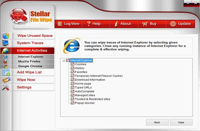 Stellar File Wipe Windows, Software Utilities Screenshot