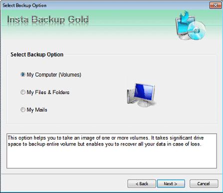 Stellar Insta Backup Gold Screenshot