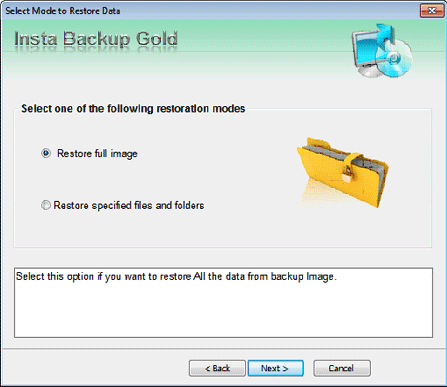 Stellar Insta Backup Gold, Access Restriction Software Screenshot